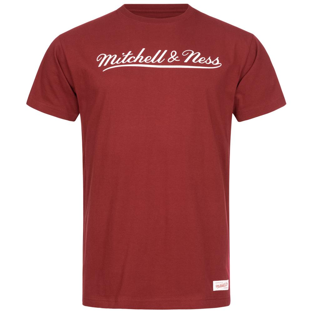 Tee-shirt Mitchell & Ness Script - rouge, du XS au XXL (frais de port inclus)