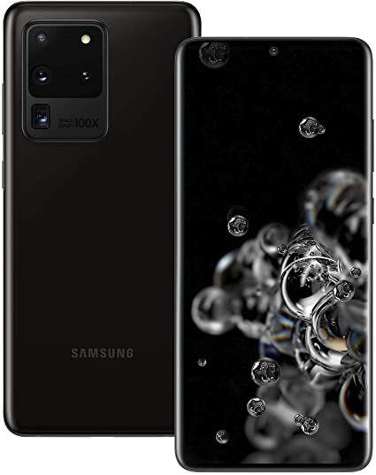 """Smartphone 6.9"""" Samsung Galaxy S20 Ultra 5G - WQHD+, Exynos 990, 12 Go de RAM, 128 Go, Noir"""