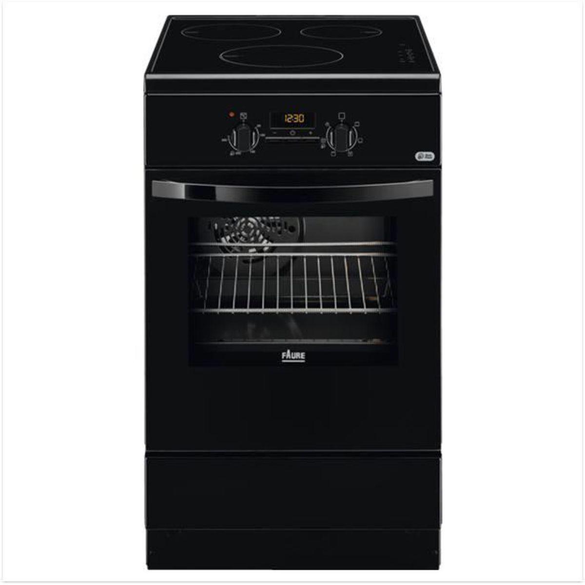 Cuisinière induction Faure FCI57301BA - 57 litres, 3 foyers, four électrique catalyse, chaleur tournante pulsée
