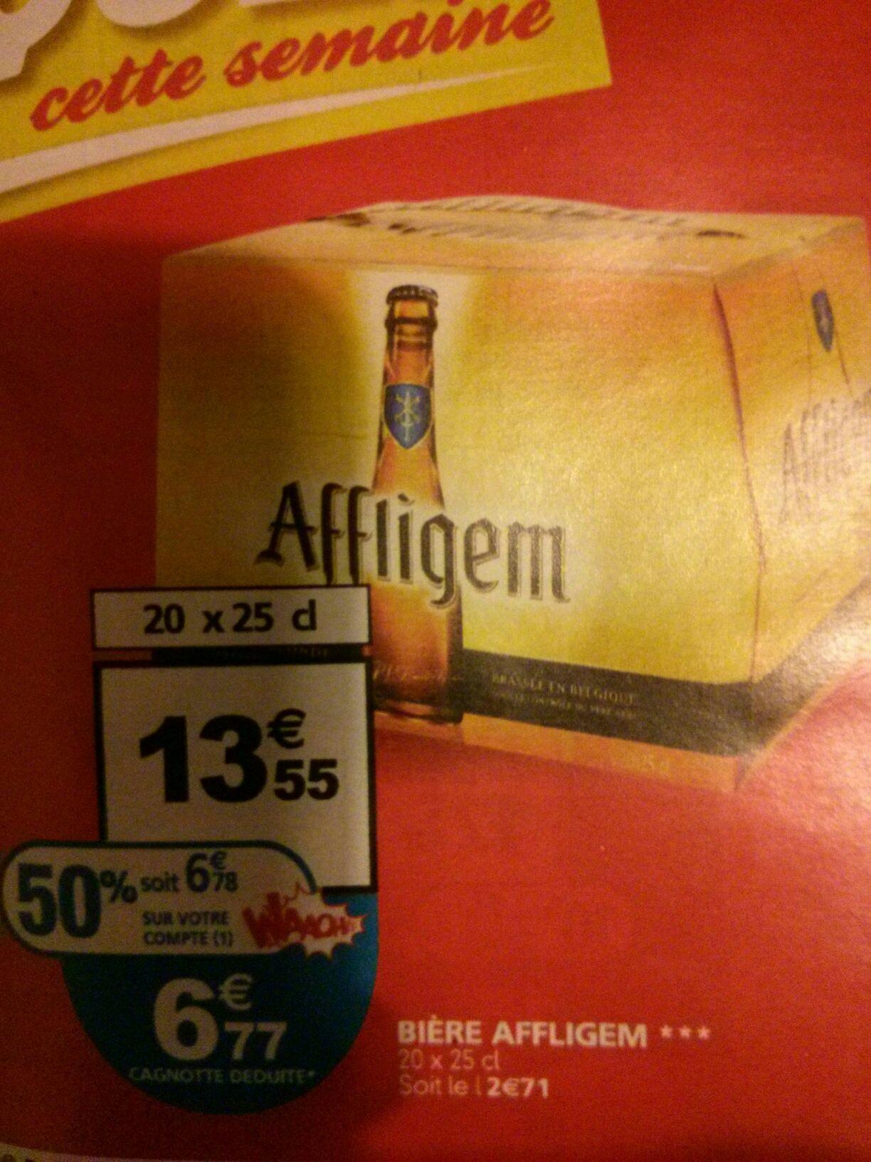Pack de Bières Affligem - 20 x 25 cl (avec 50% sur la carte)
