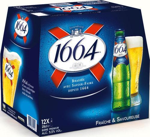 3 packs de Bières 1664 - 12 x 25 cl (via BDR)