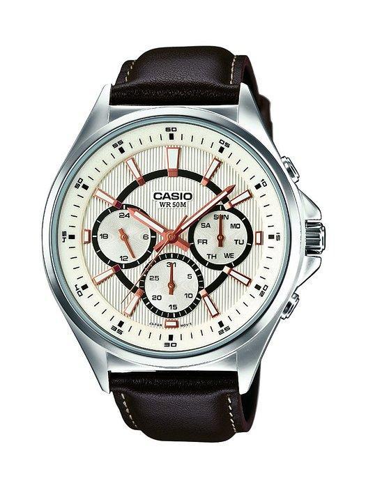 Montre Analogique Casio MTP-E303L-7AVEF - Bracelet cuir