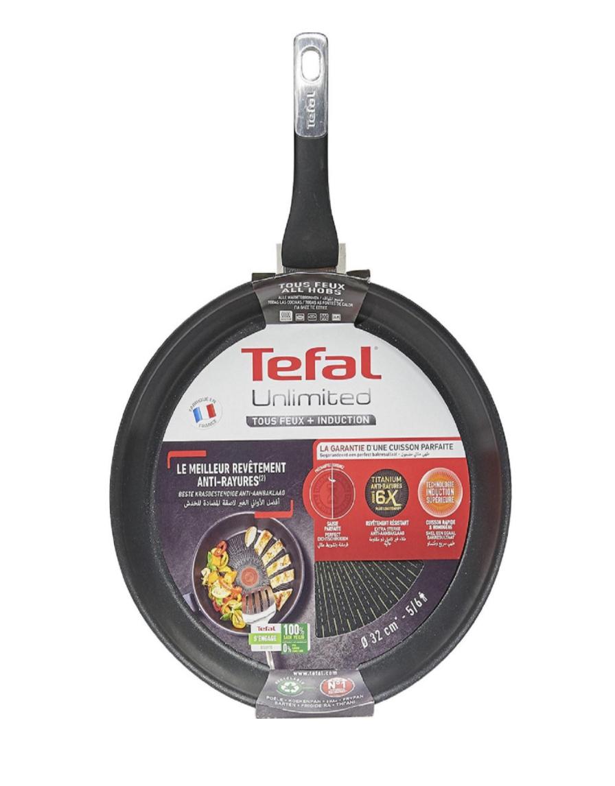 Poêle Tefal Unlimited - 32cm, Tous feux dont induction (Via 25.95€ sur la carte fidélité)