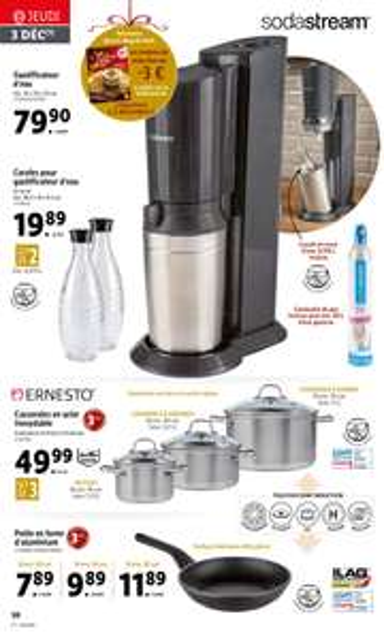 Sélection de produits en promotion - Ex : machine à gazéifier l'eau SodaStream Crystal (via ODR de 15€)