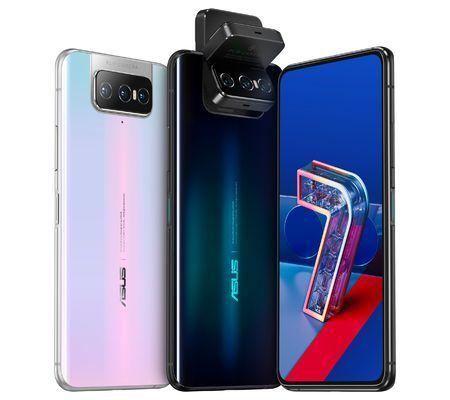 """Pack Smartphone 6.67"""" Asus Zenfone 7 Pro (Double SIM, 256 Go, 5G, Noir) + Ecouteurs sans fil Bluetooth Sporty BT V985 (Noir)"""
