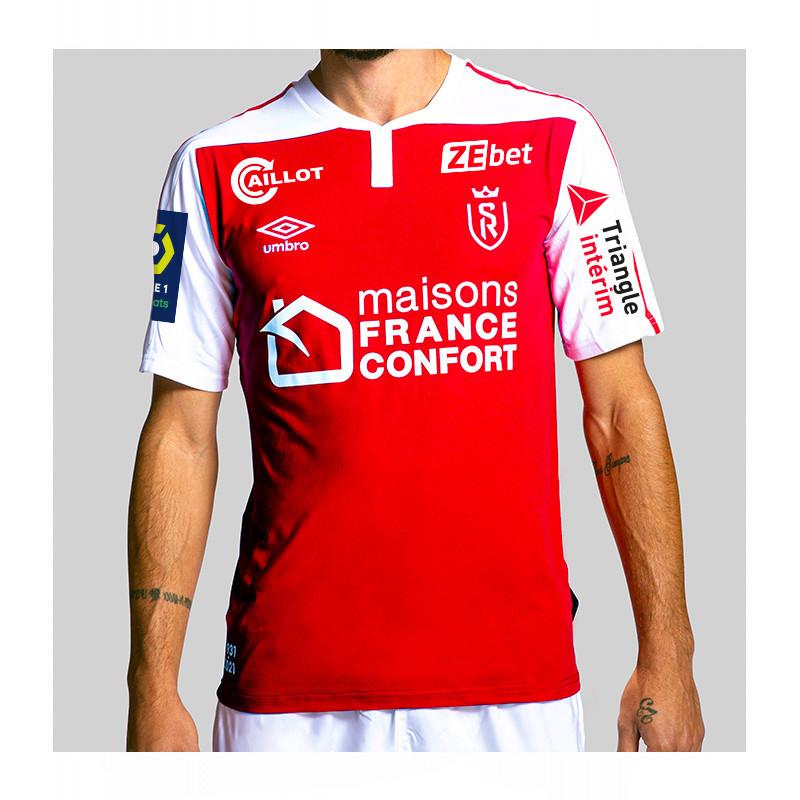Maillot domicile du Stade de Reims saison 2020/2021 (boutique.stade-de-reims.com)