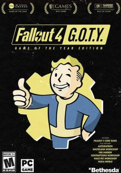 Fallout 4 Goty (Jeu + tous les DLCs) sur PC (Dématérialisé - Steam)