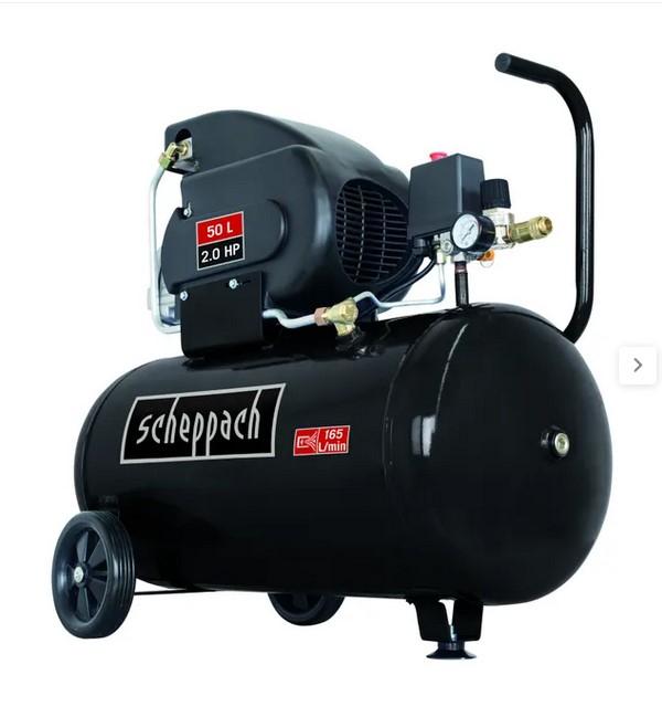Compresseur d'air horizontal Scheppach Black Edition - 50 L, 2 CV, 8 Bars - Bois d'Arcy (78)