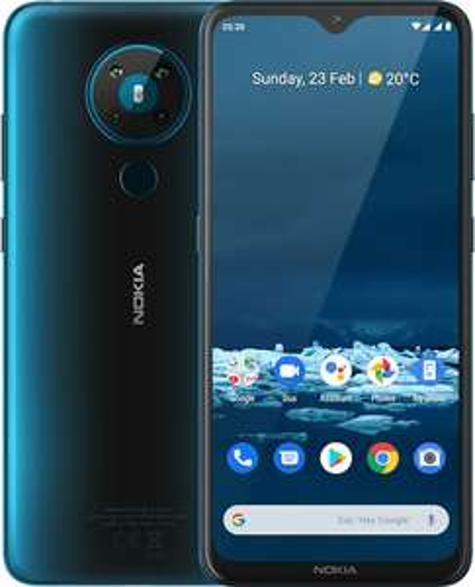 "Smartphone 6.55"" Nokia 5.3 - HD+, SnapDragon 665, 4 Go de RAM, 64 Go, bleu ou noir"