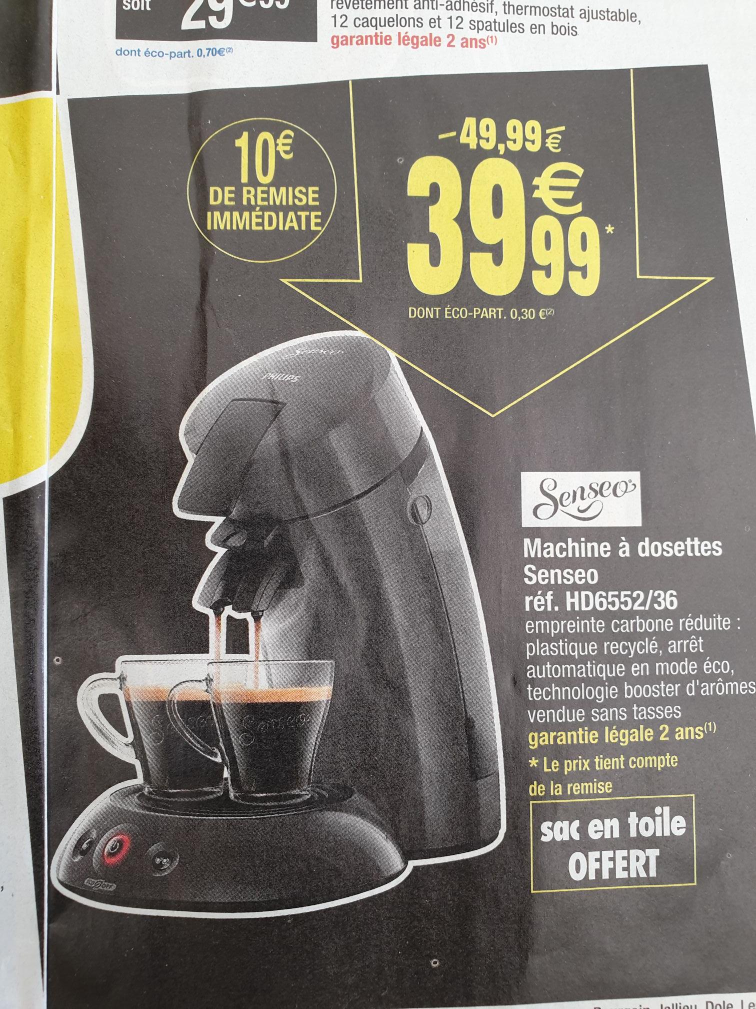 Machine à dosettes Senseo HD6552/36 - dans une sélection de magasins