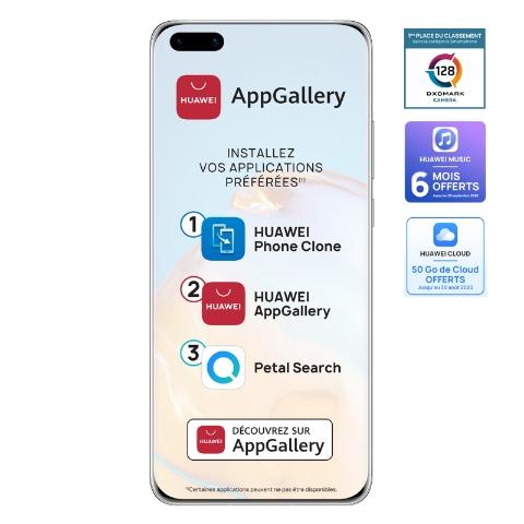 """Smartphone 6.58"""" Huawei P40 Pro 5G - 8 Go de RAM, 256Go + Freebuds Pro + Etui avec porte carte (Sans Services Google)"""