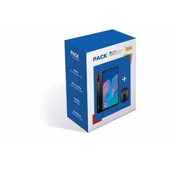 "Smartphone 6.4"" Huawei P40 Lite E 4G - 4 Go RAM, 64 Go (Noir minuit) + Enceinte portable sans fil Bluetooth Huawei CM510 (Noir)"