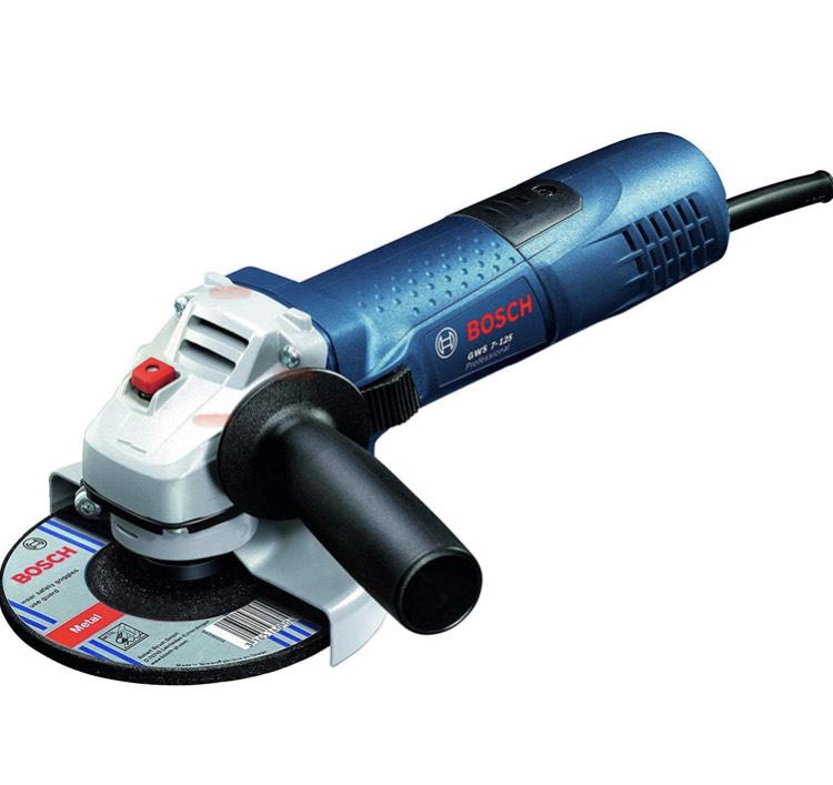 Meuleuse d'angle filaire Bosch Professional GWS 7-125 - 720W, Disque Ø: 125 mm