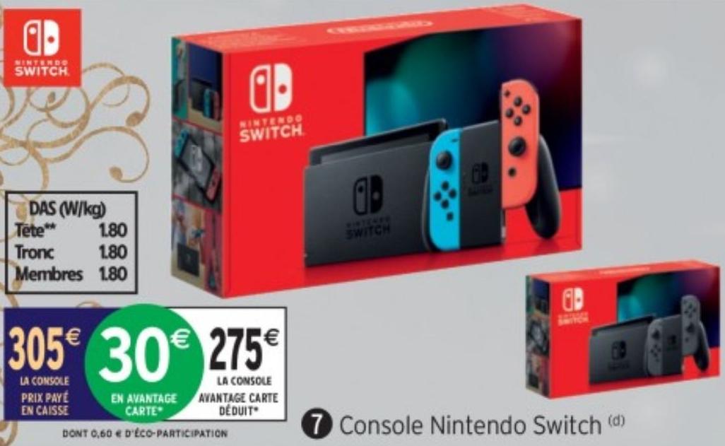 Console Nintendo Switch (Via 30€ sur Carte Fidélité)