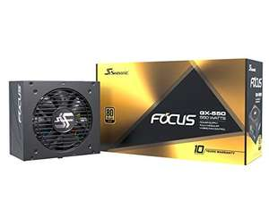 image produit Alimentation Seasonic Focus PX 550W 80+ Gold (via coupon de 15.04€)