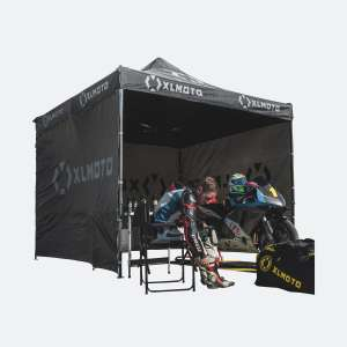 Tente paddock XLMoto Easy-Up avec cloisons
