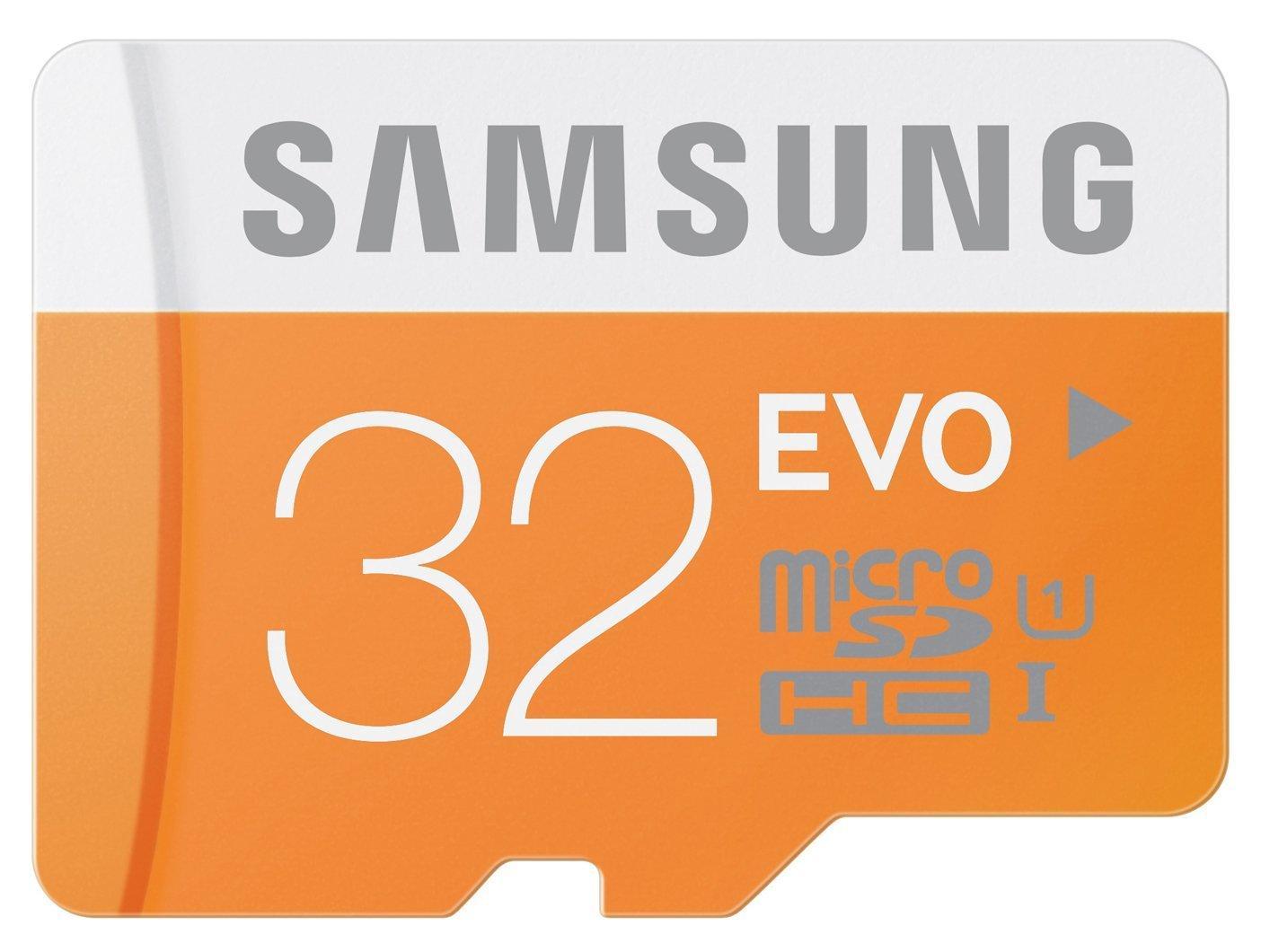 Carte microSDHC Samsung Evo Classe 10 (jusqu'à 48Mo/s) - 32 Go