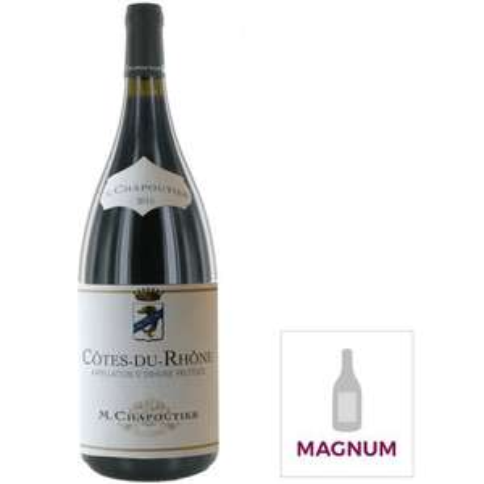 Magnum Vin rouge de la Vallée du Rhône Chapoutier Côtes du Rhône 2019 - 1.5 L