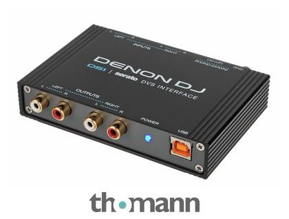 Interface Audio DJ Denon DJ DS1 Serato - 2 entrées platines, Interface audio 24 bits, Logiciel Serato DJ et DVS Expension inclus