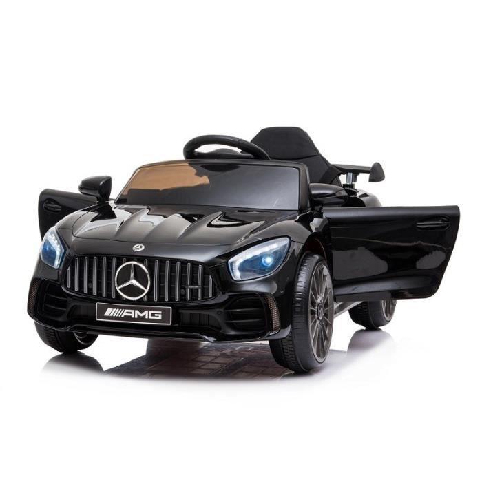 Voiture électrique pour enfant Mercedes GT-R AMG - 12V, Moteur 2x25W, Télécommande incluse, Lecteur USB (Noir ou Blanc)