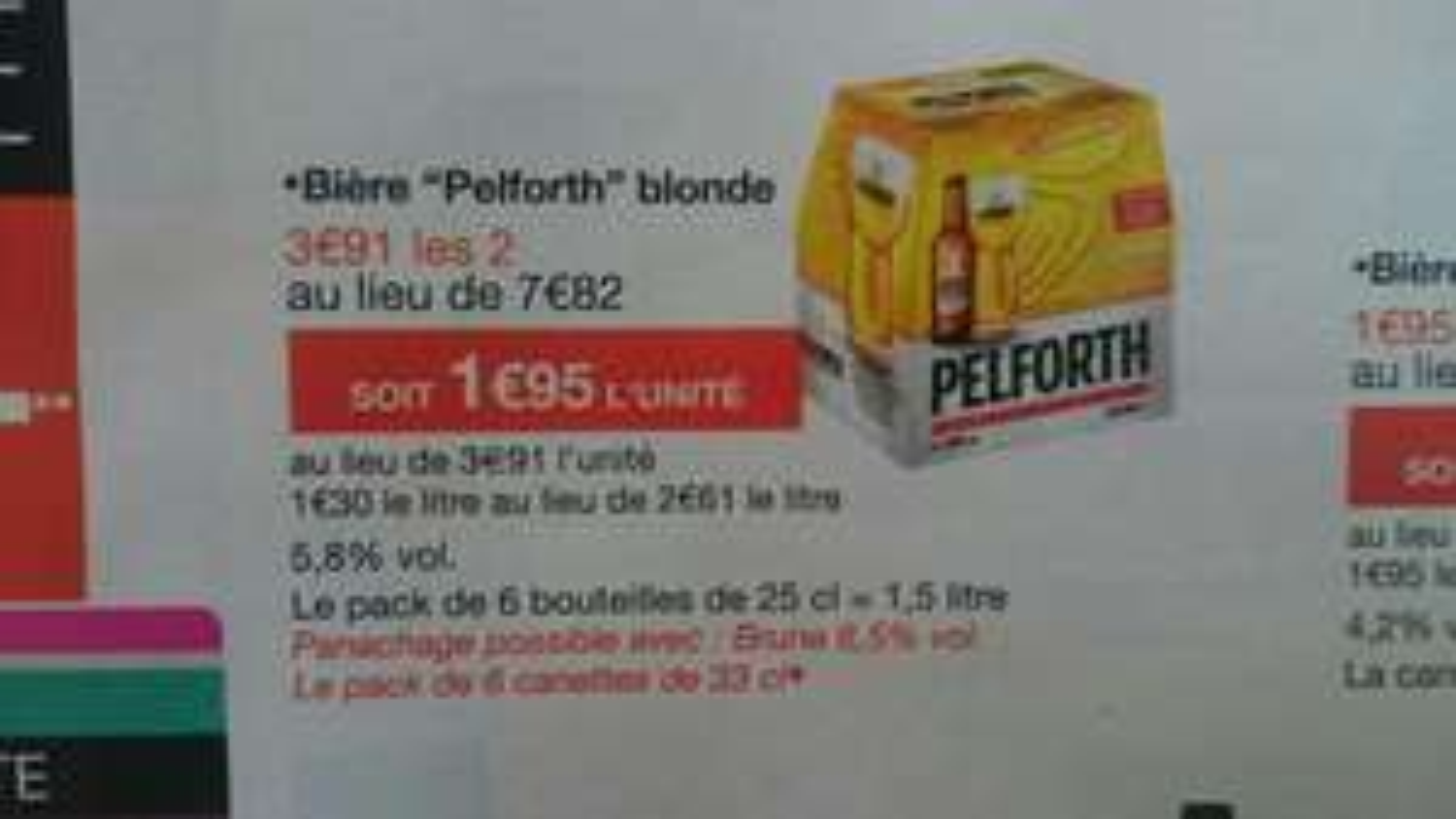Lot de 4 packs de 6 Bières Pelforth blondes  25 cl (via Shopmium) gratuits