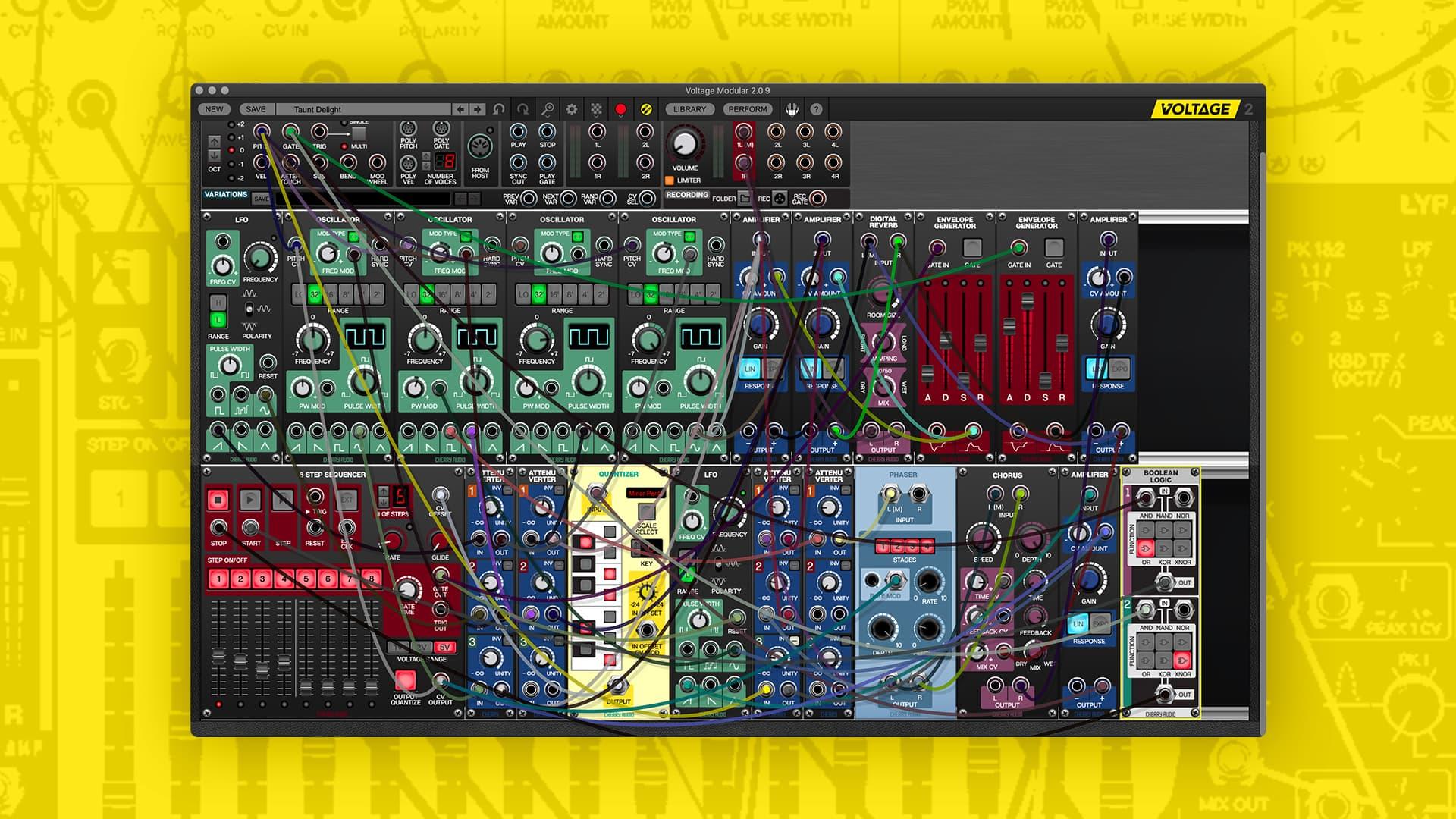 Plug-in Voltage Modular Nucleus Gratuit sur PC & Mac (Dématérialisé - AU / VST / VST3 / Pro Tools AAX) - cherryaudio.com