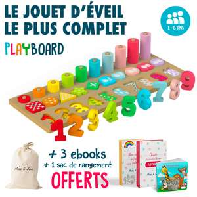 Planche de jeu en bois Max and Lea Playboard (maxandlea.com)