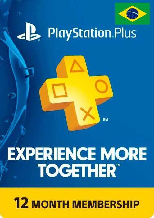 Abonnement de 12 mois au PlayStation Plus (Dématérialisé - Compte Bresil)