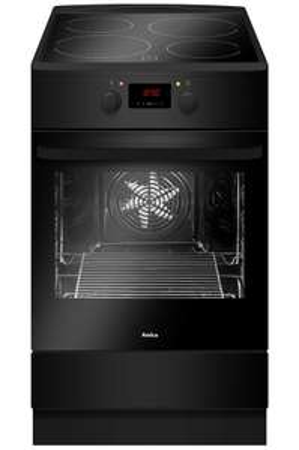 Cuisinière à induction Amica ACI605N - Capacité du four 65 L (Nettoyage catalyse), 4 foyers indépendant jusqu'à 3000 W