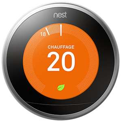 Thermostat Netatmo Nest Learning - 3e génération, noir
