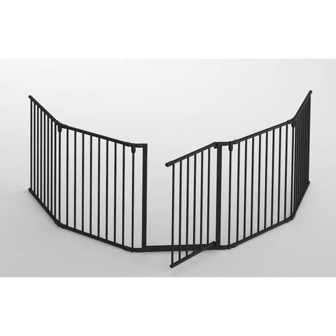 Barrière de sécurité enfants Nidalys - Pliable, Portillon inclus, 300cm de largeur, Compatible Feu & Cheminée