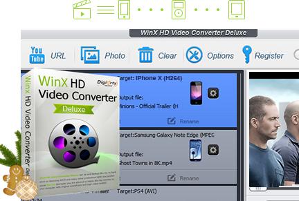 Logiciel WinX HD Video Converter Deluxe Gratuit (Dématérialisé - winxdvd.com)