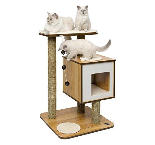 Arbre à chat CatIt Vesper V - base en noyer, 81.5 cm