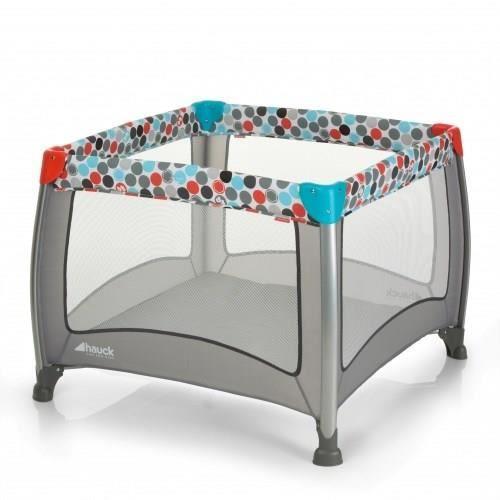 Lit / Parc parapluie Hauck Play'n Relax - Gris, 90x90cm