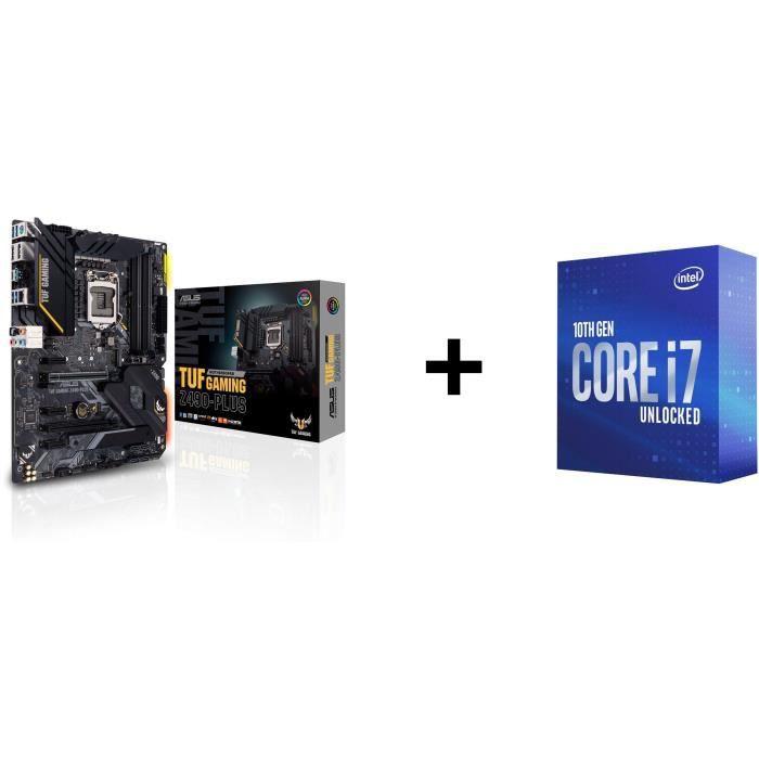 Pack Carte Mère Z490 Asus TUF Gaming Z490-PLUS + Intel Core i7-10700K (3.8 GHz / 5.1 GHz)
