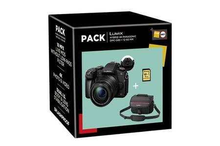 Appareil photo Panasonic G80 + 12-60/3,5-5,6 + Sacoche + Carte SD 16 Go (+40€ en bon d'achat avec le code DARTY40)