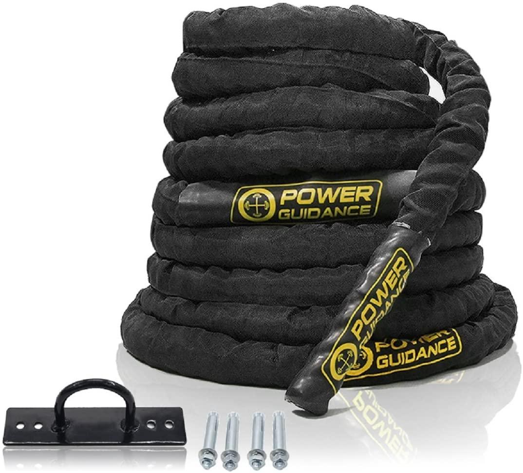 Corde d'entrainement Battle Rope Power guidance - 3,8cm/9m (vendeur tiers)