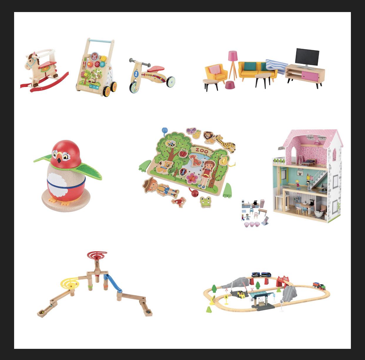 Sélection de jouets en bois à partir de 4.99€
