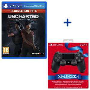 Pack Manette PS4 Dualshock 4.0 V2 Jet Black + Jeu Uncharted : The Lost Legacy Edition PlayStation Hits