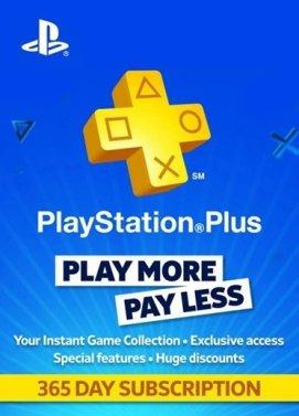 Abonnement d'un an au PlayStation Plus (compte UK, dématérialisé)