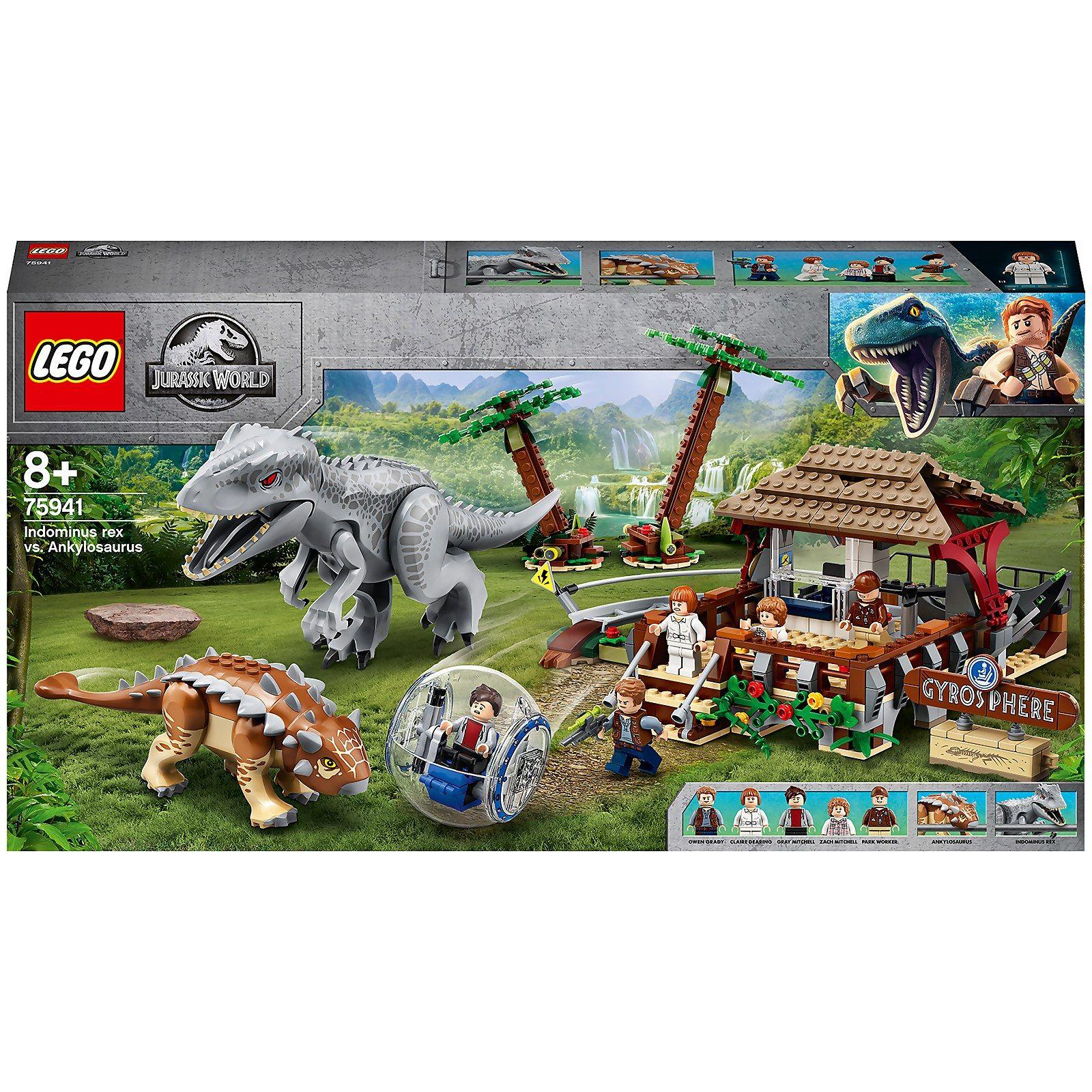 Jouet Lego Jurassic World - L'Indominus Rex contre l'Ankylosaure (75941)