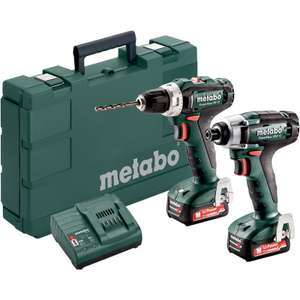 Pack Metabo 12V - Perceuse PowerMaxx BS (40Nm), Visseuse à chocs Metabo PowerMaxx SSD (115Nm) - 2 batteries 2.0Ah, Chargeur, Mallette