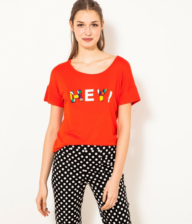 Sélection d'articles en promotion - Ex: T-shirt oversize à message pour Femme + Cadeau offert dès 60€ d'achat