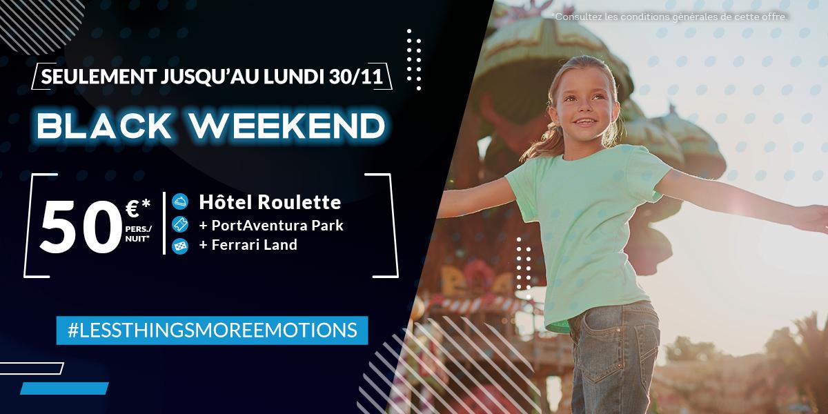 Séjour hôtel Roulette + accès aux parcs d'attraction PortAventura + FerrariLand pour 50€/pers/nuit à Tarragona (ES) - PortAventuraWorld.com