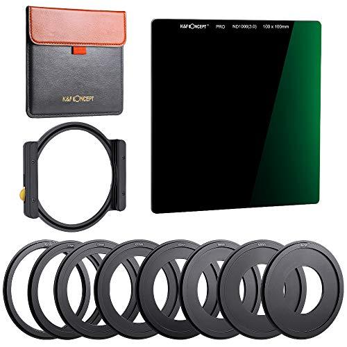 Filtre ND 1000 carré et porte filtre en métal (Vendeur Tiers)