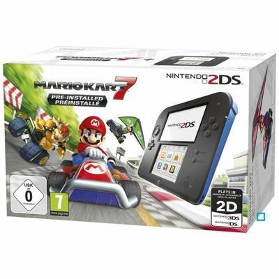 Pack Nintendo Console 2 DS Black&Blue + Mario Kart 7 pré-installé