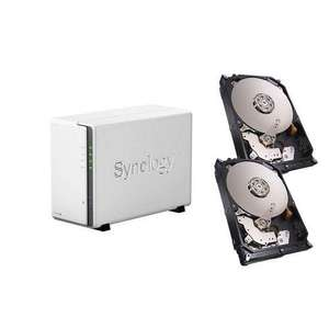 Pack Serveur de stockage Nas Synology DiskStation DS215j + 2 x Disque dur Seagate Nas HDD 2 To