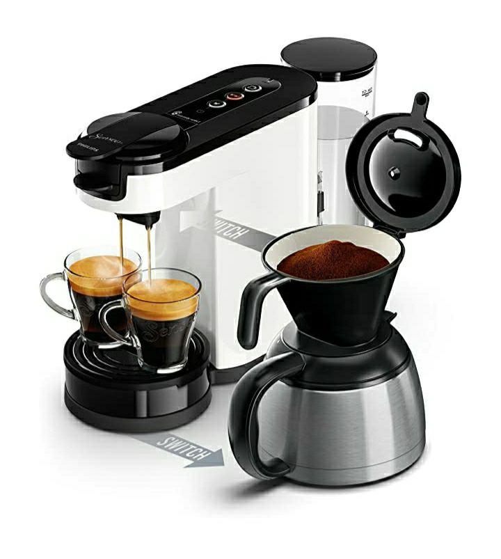Machine à dosettes et café filtre 2 en 1 Philips Senseo Switch HD6592/01 - 1450 W