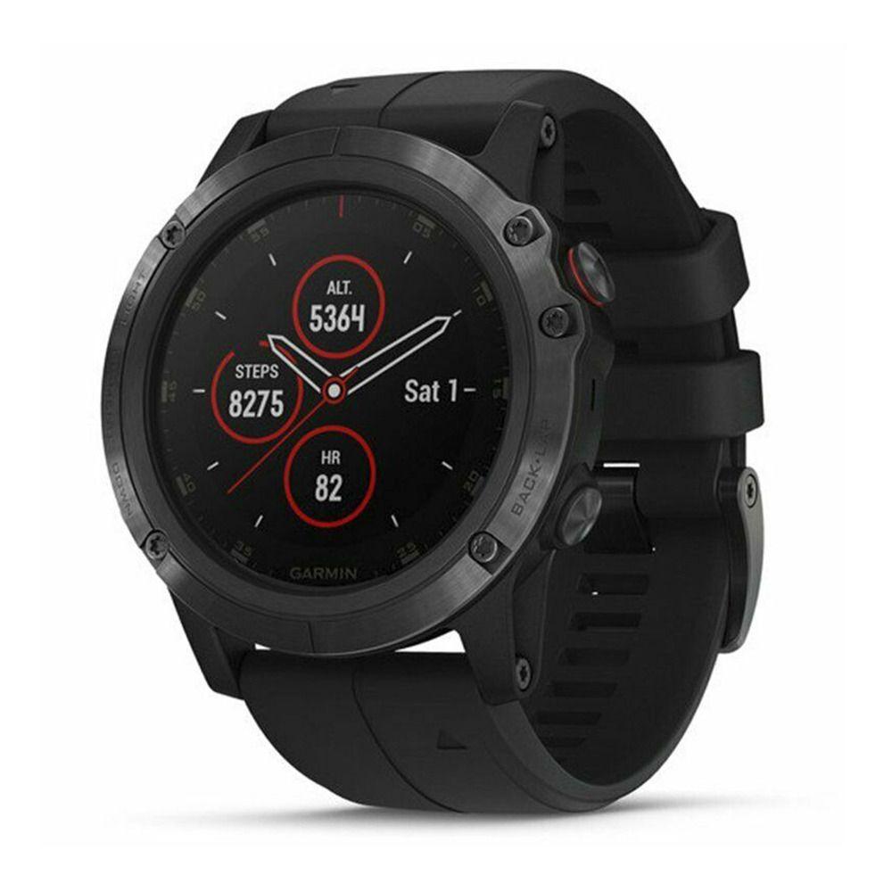 Montre GPS connectée Garmin Fenix 5X Plus - Noir, Verre Saphir