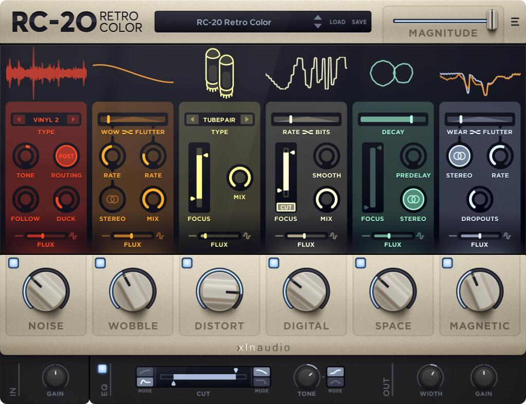 Plugin RC-20 Retro Color VST / Multi Effets (Dématérialisé - xlnaudio.com)